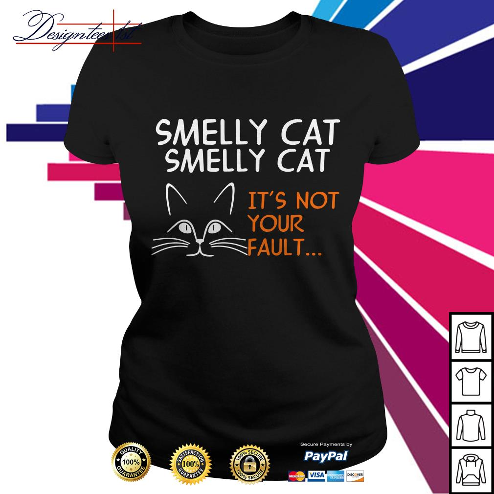 Smelly cat Smelly cat it's not your fault Ladies Tee