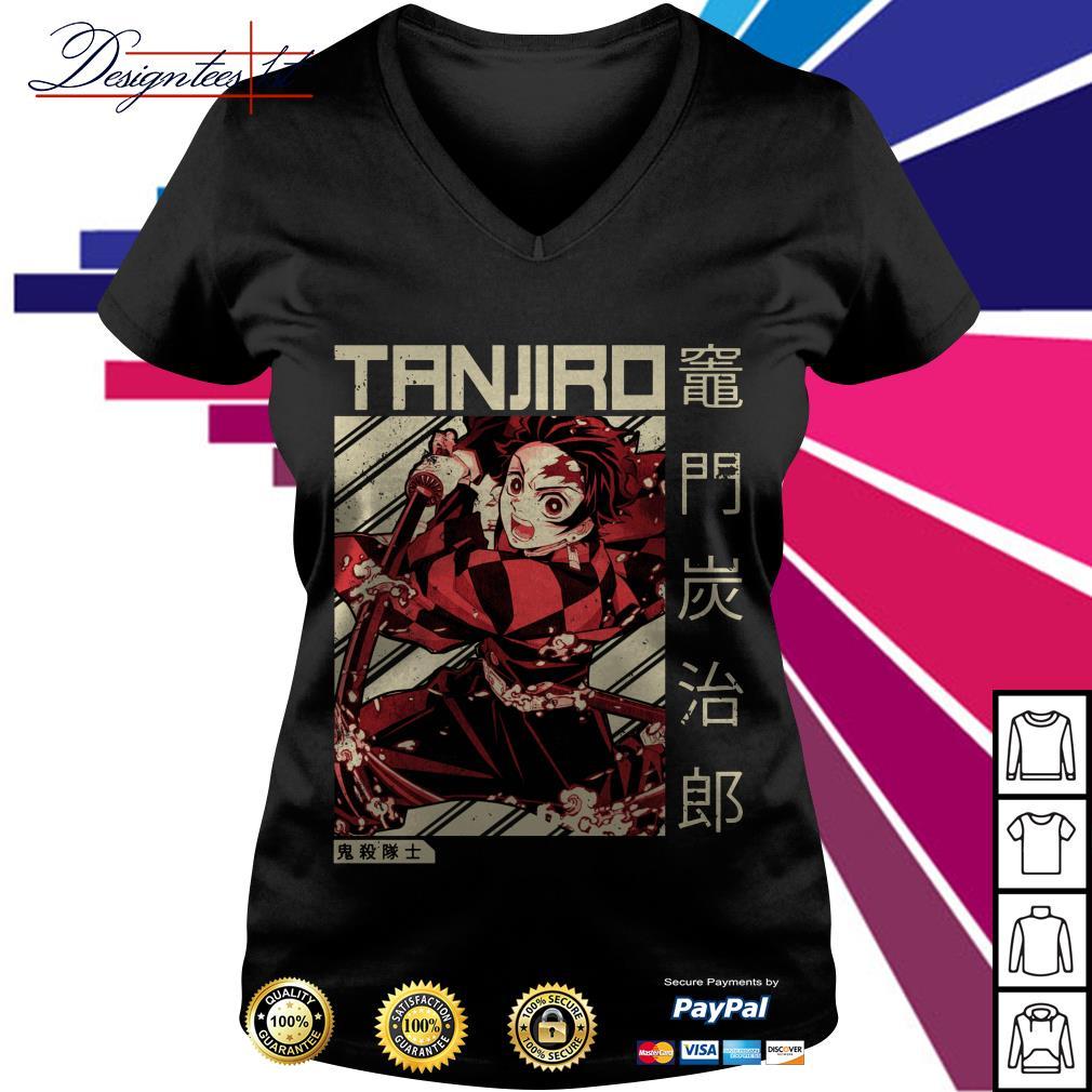 Tanjiro Demon Slayer V-neck T-shirt