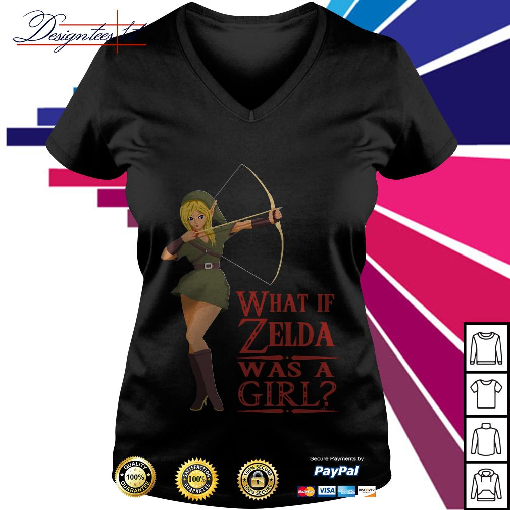 What if Zelda was a girl V-neck T-shirt