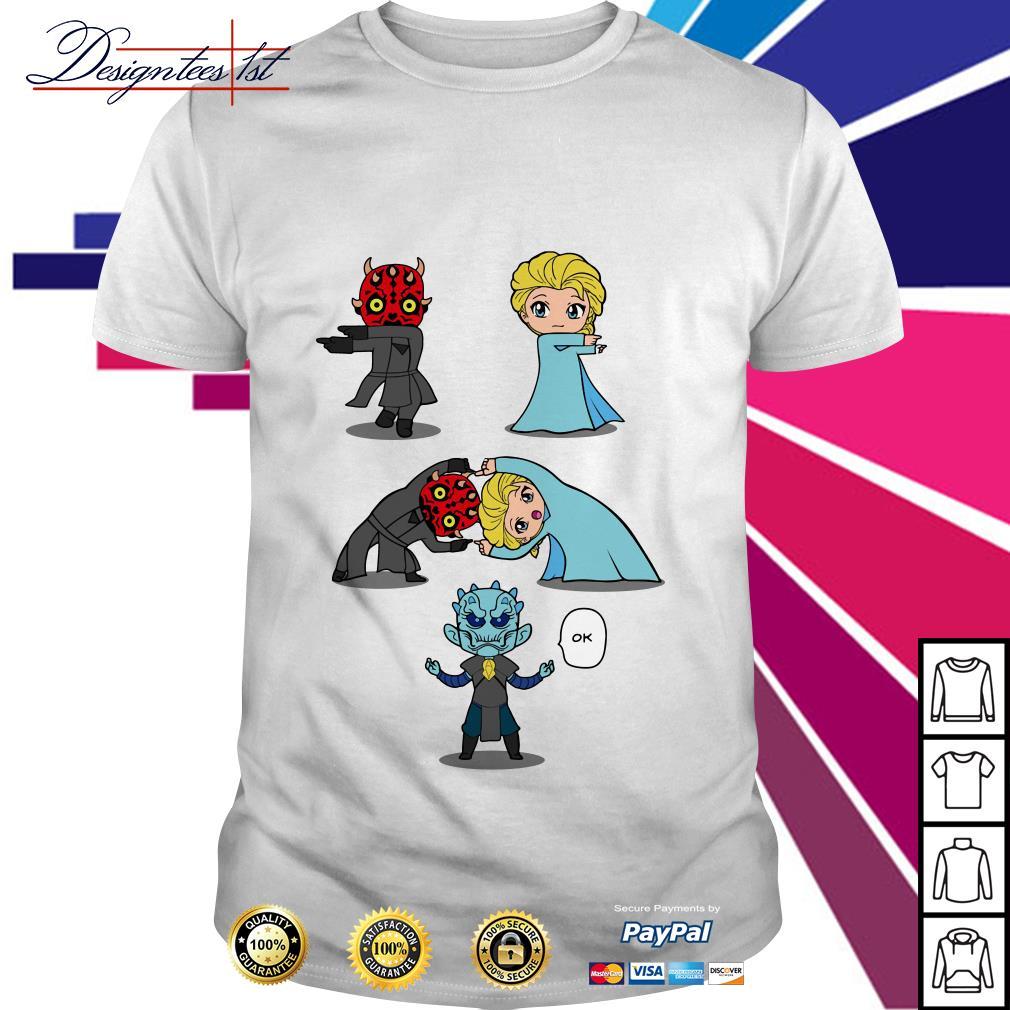 White Walker and Elsa Princess fusion dance shirt