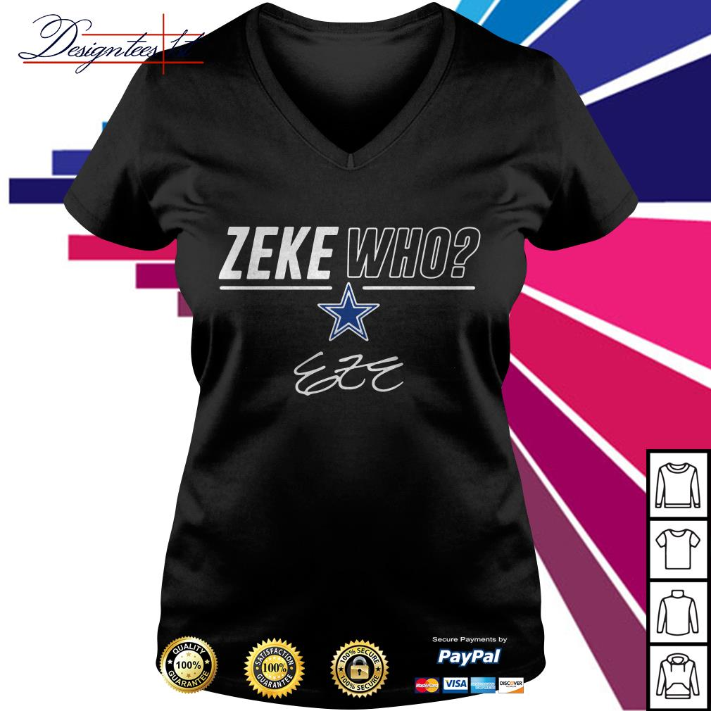 Zeke Who signature V-neck T-shirt