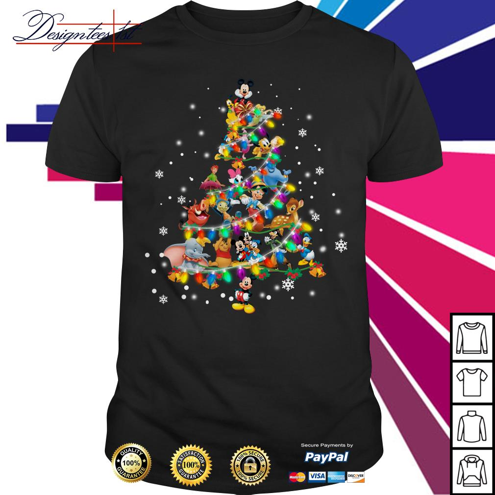 2019 Disney Cartoon characters Christmas tree shirt, sweater