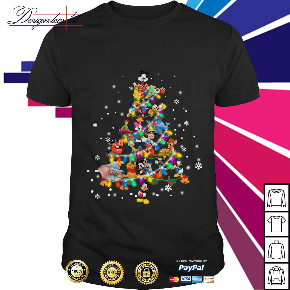 2019 Disney characters Christmas tree shirt