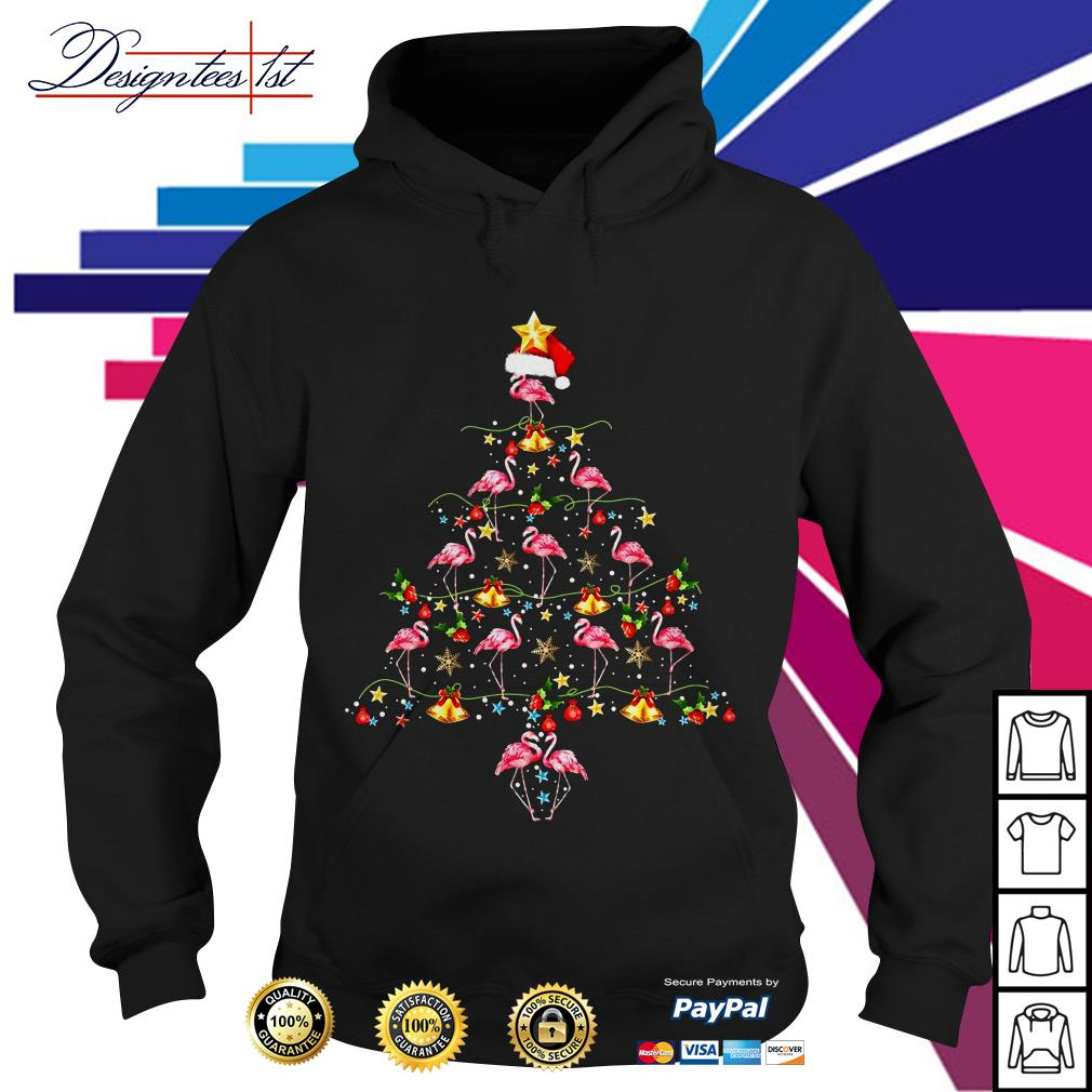 2019 Merry Christmas Flamingo tree Hoodie