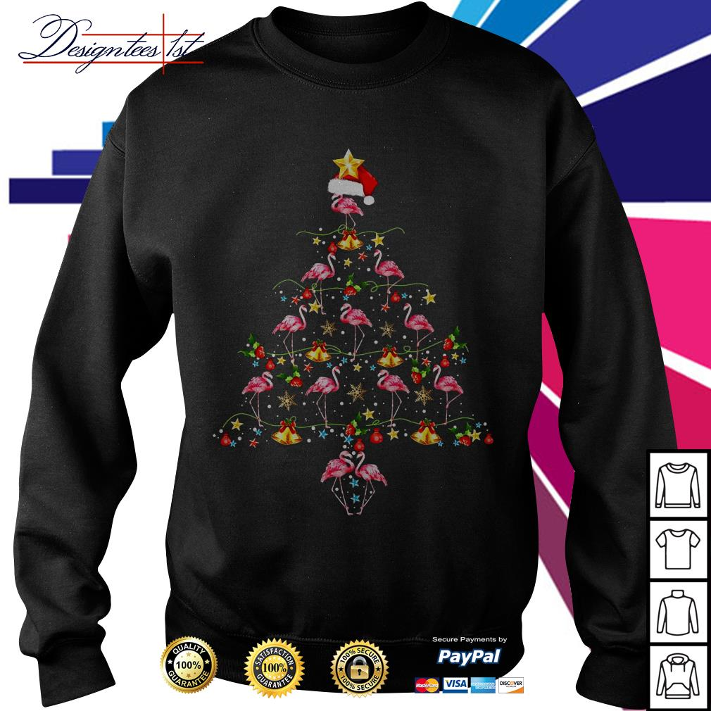 2019 Merry Christmas Flamingo tree Ugly Sweat shirt