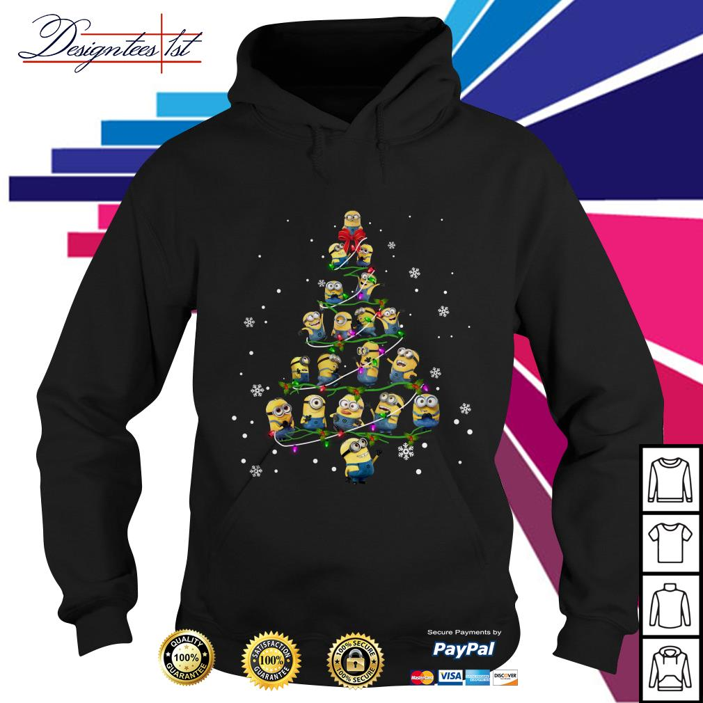2019 Merry Christmas Minion Christmas tree Hoodie
