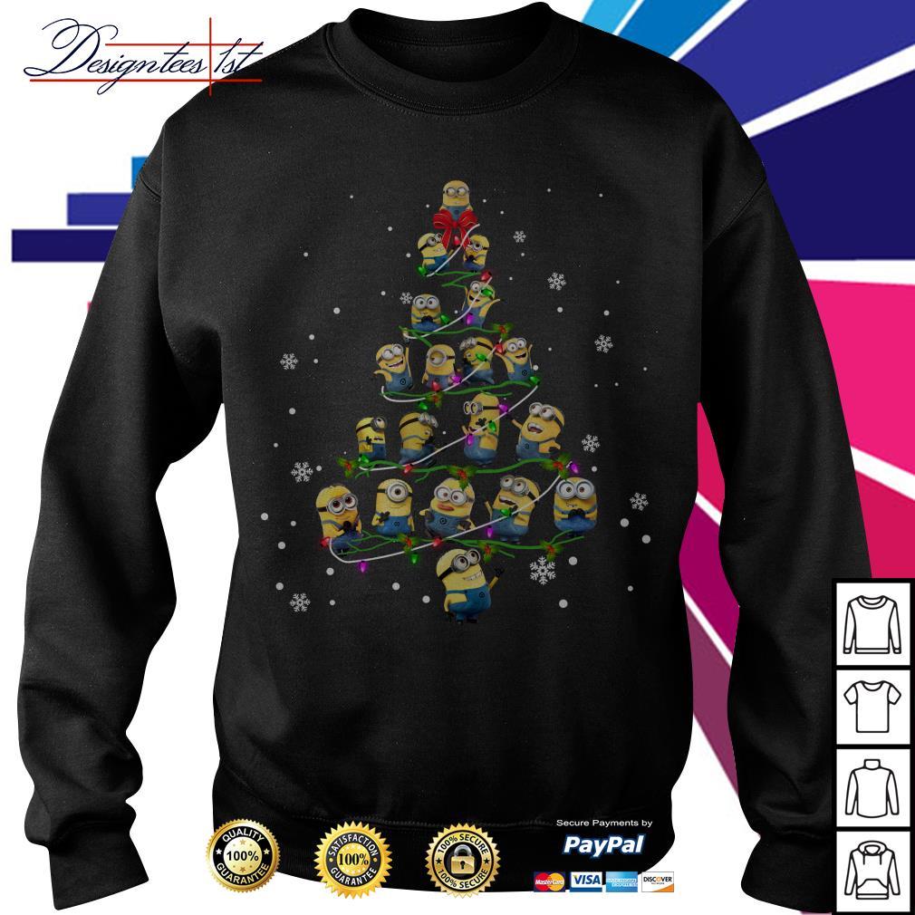 2019 Merry Christmas Minion Christmas tree Sweater