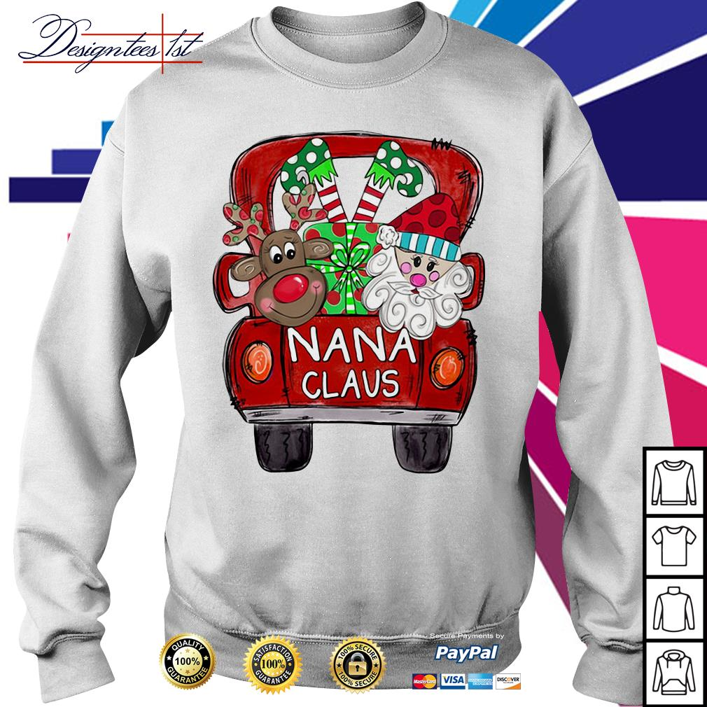 2019 Merry Christmas Red car and gift Nana Claus Ugly Sweat shirt