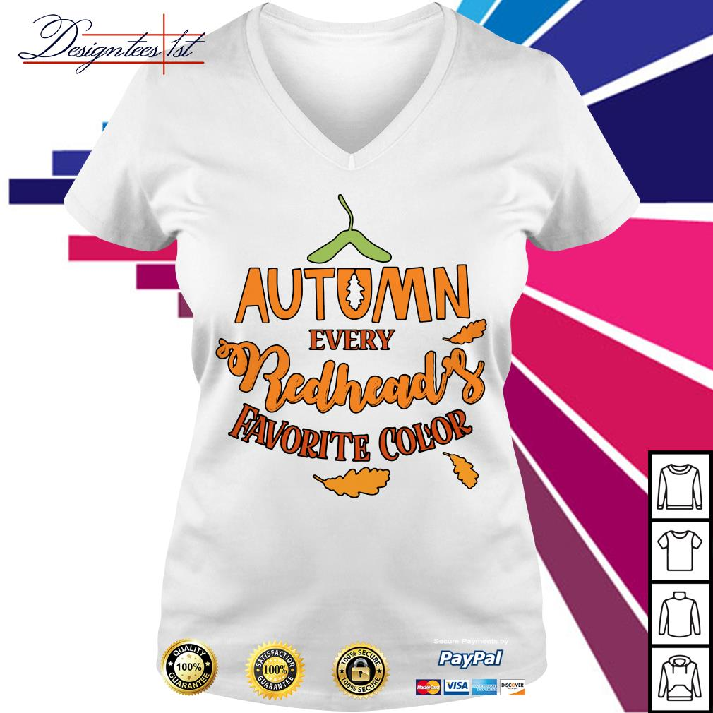 Autumn every redhead's favorite color V-neck T-shirt