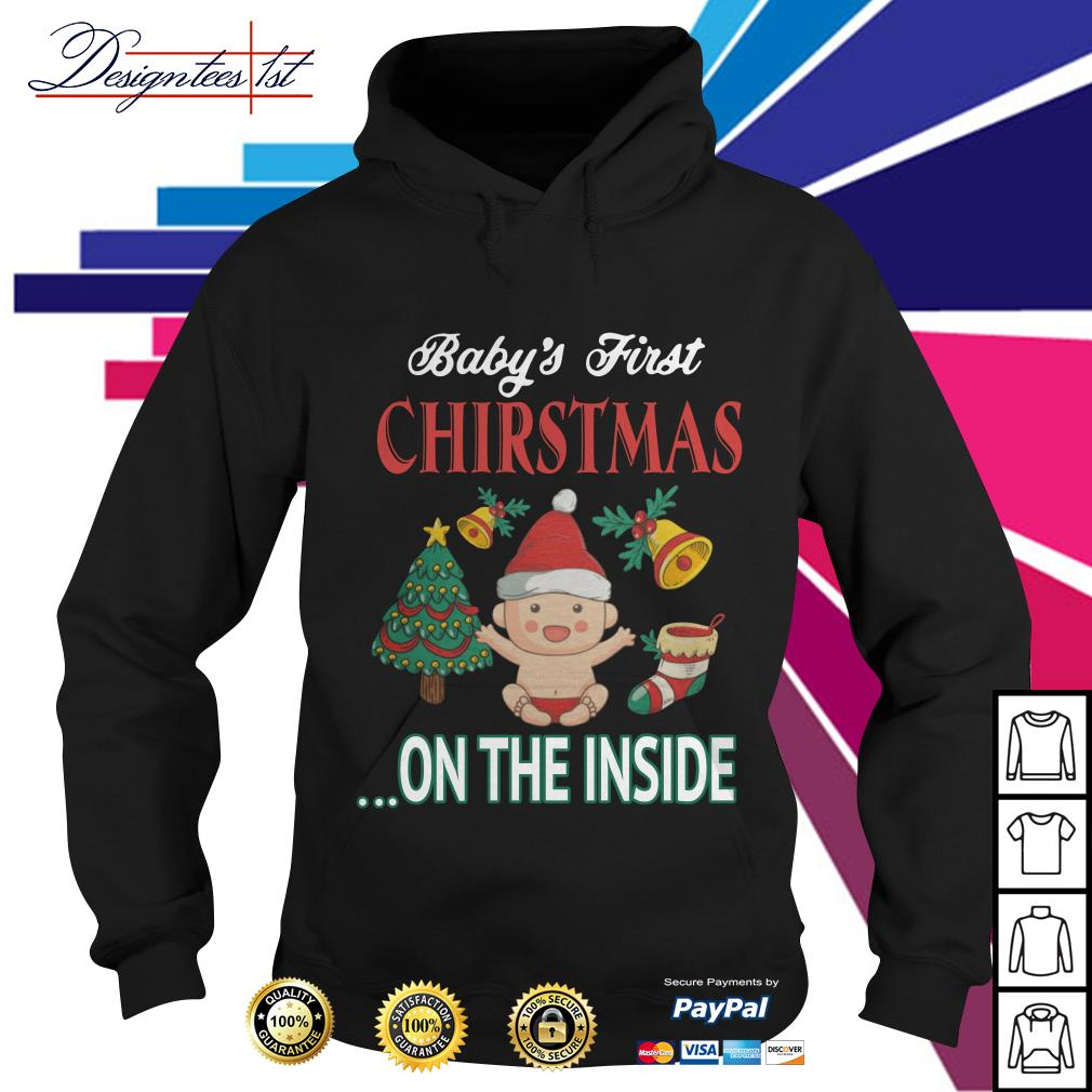 Baby's first Christmas on the inside Hoodie