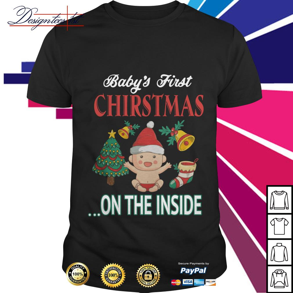 Baby's first Christmas on the inside shirt, sweater