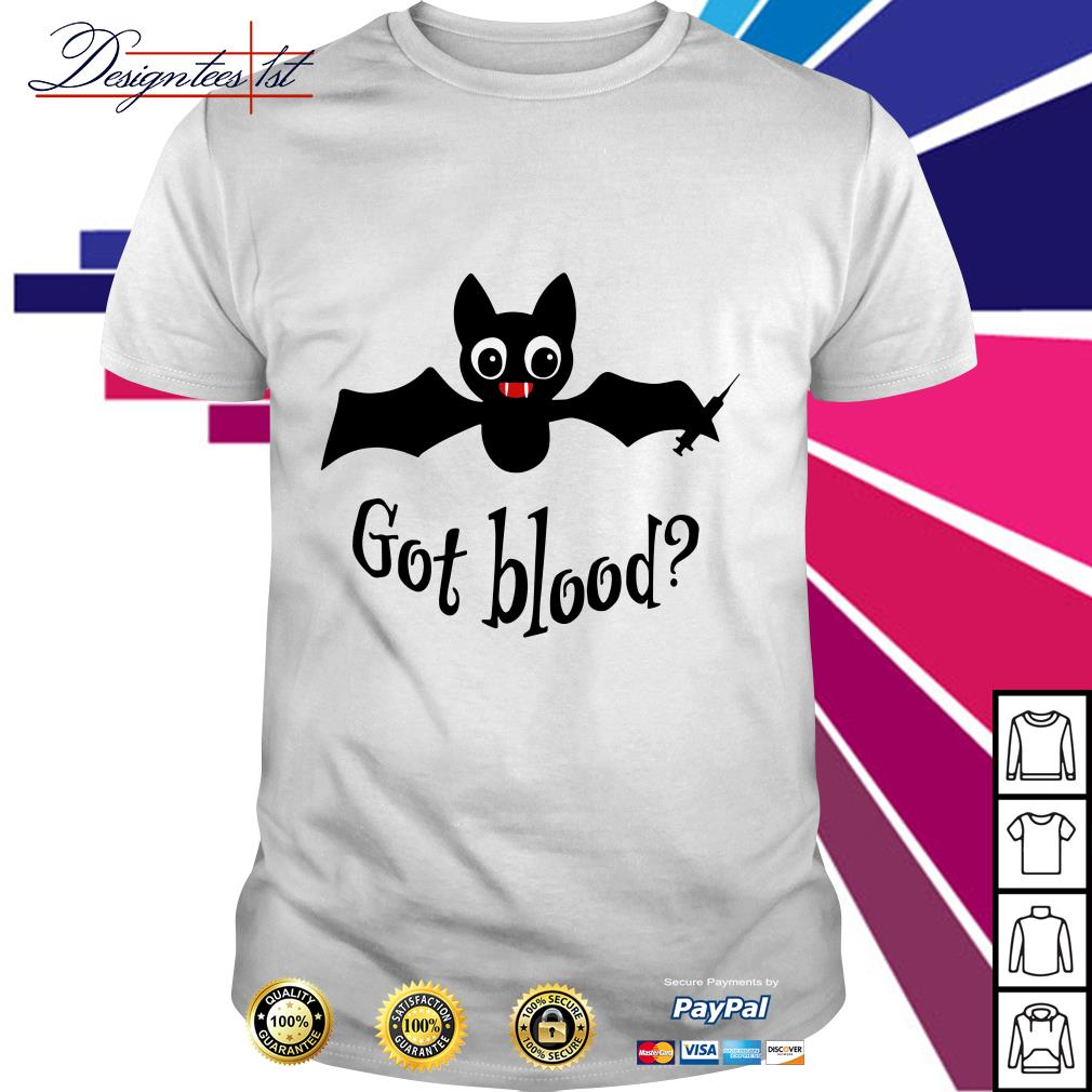 Bat got blood shirt
