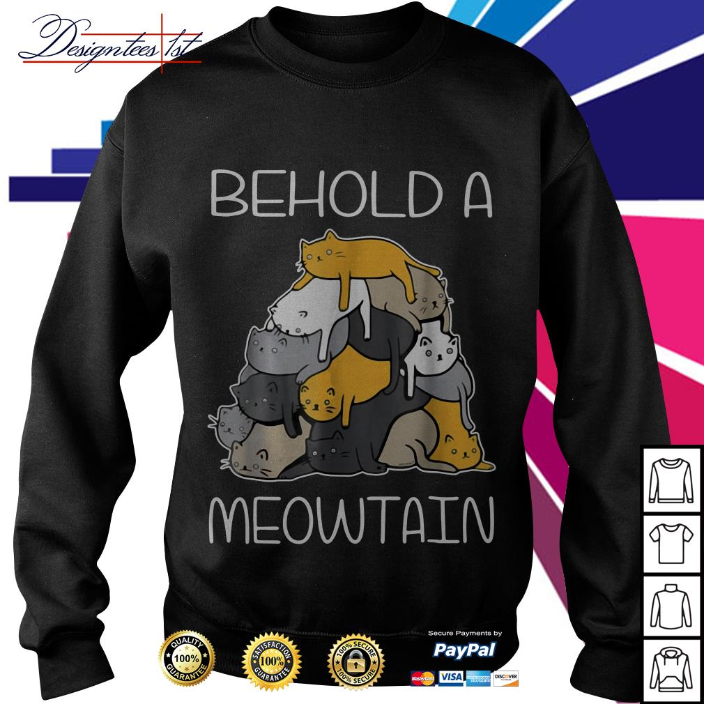 Behold a Meowtain cat mountain Sweater