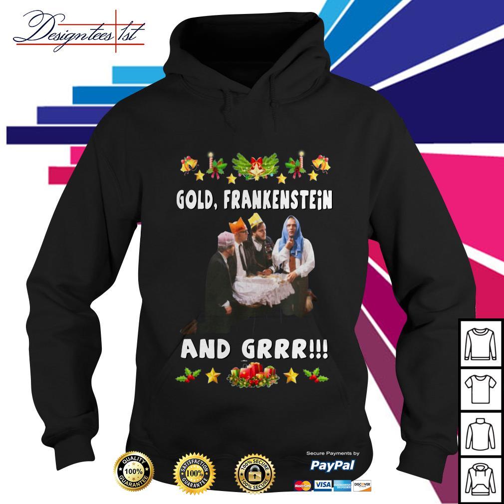 Bottom Richie and Eddie Gold Frankenstein and grrr Hoodie