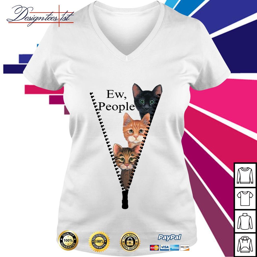 Cat ew people V-neck T-shirt