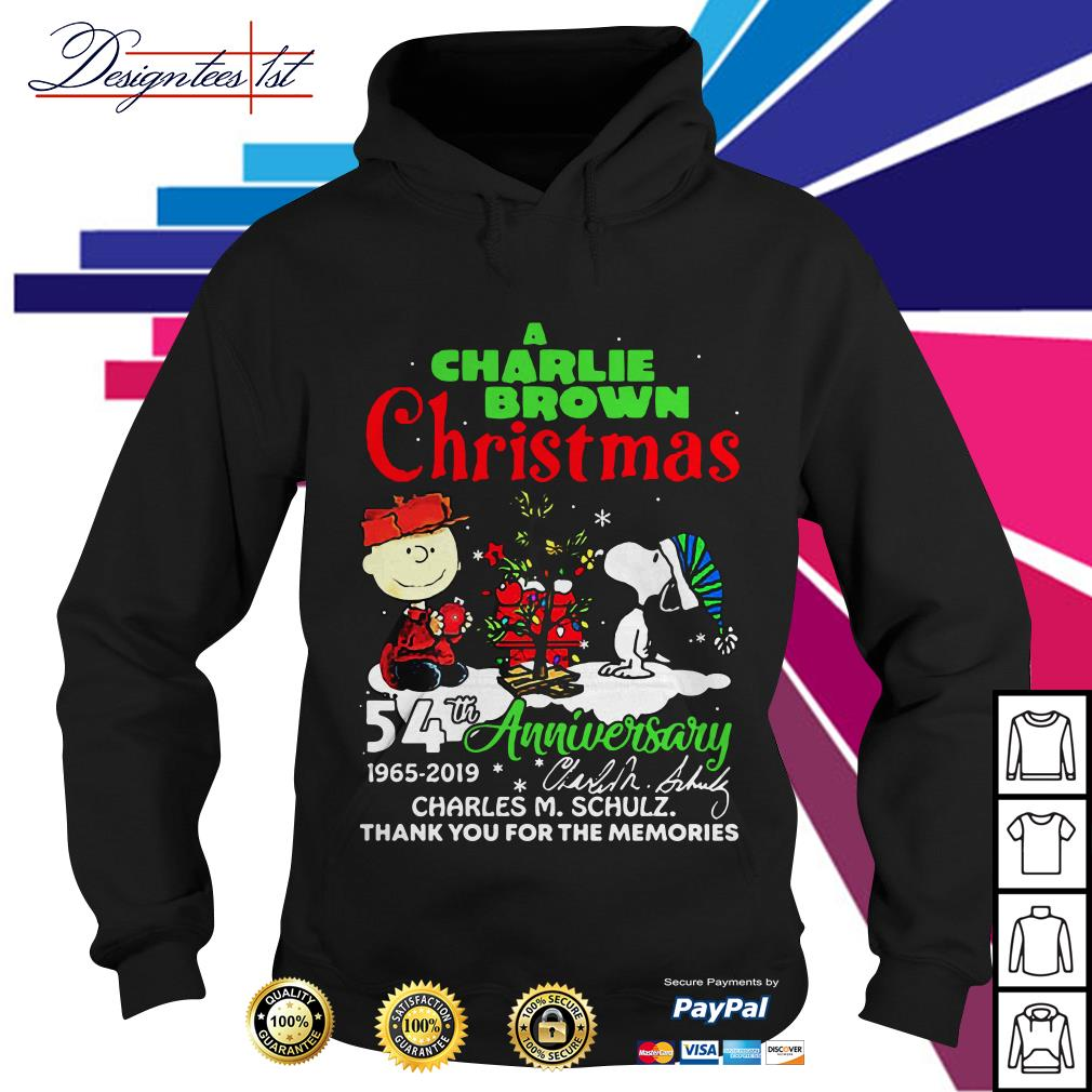A Charlie Brown and Snoopy Christmas 54th anniversary 1965 2019 signature Hoodie