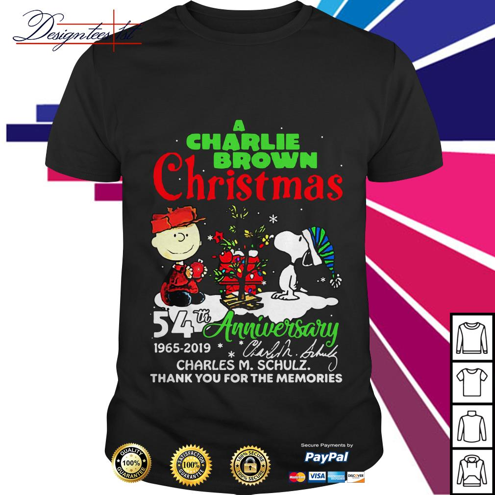 A Charlie Brown and Snoopy Christmas 54th anniversary 1965 2019 signature shirt