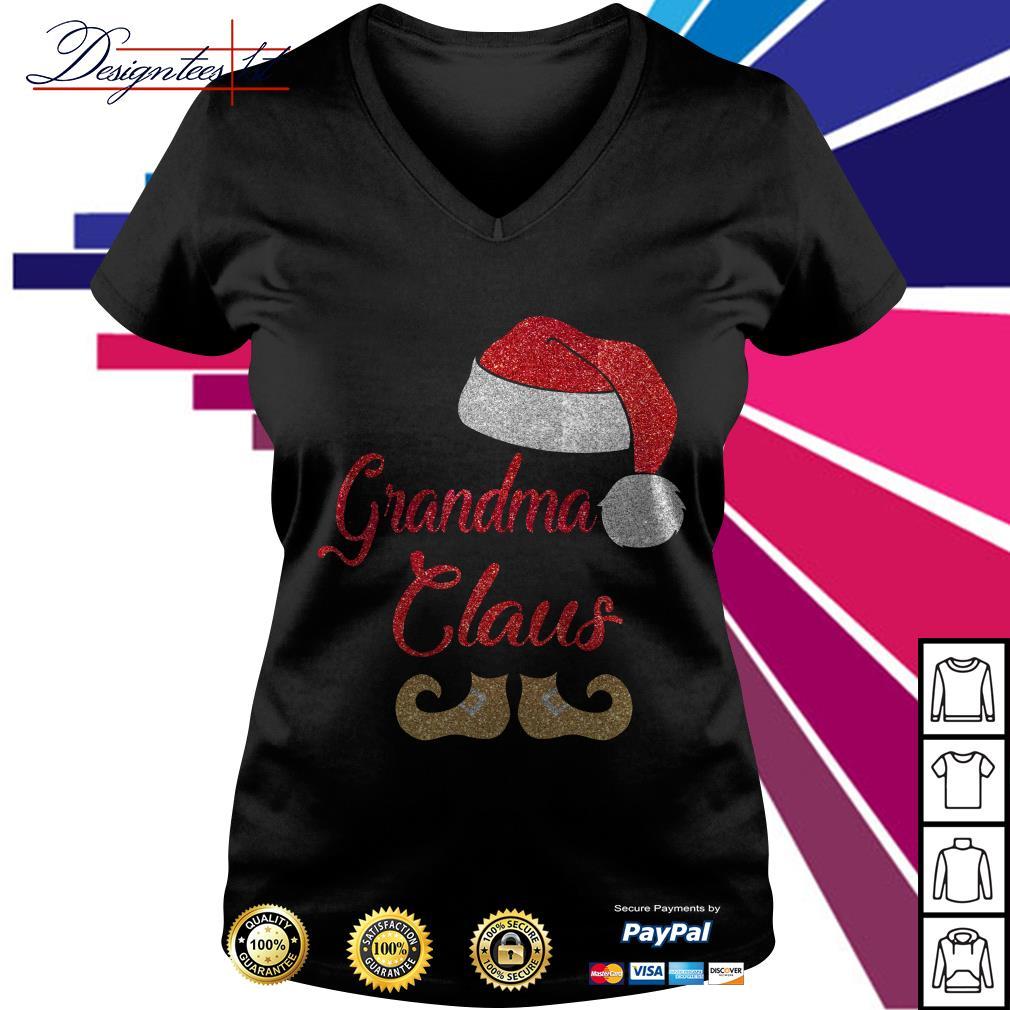 Diamond grandma Claus V-neck T-shirt