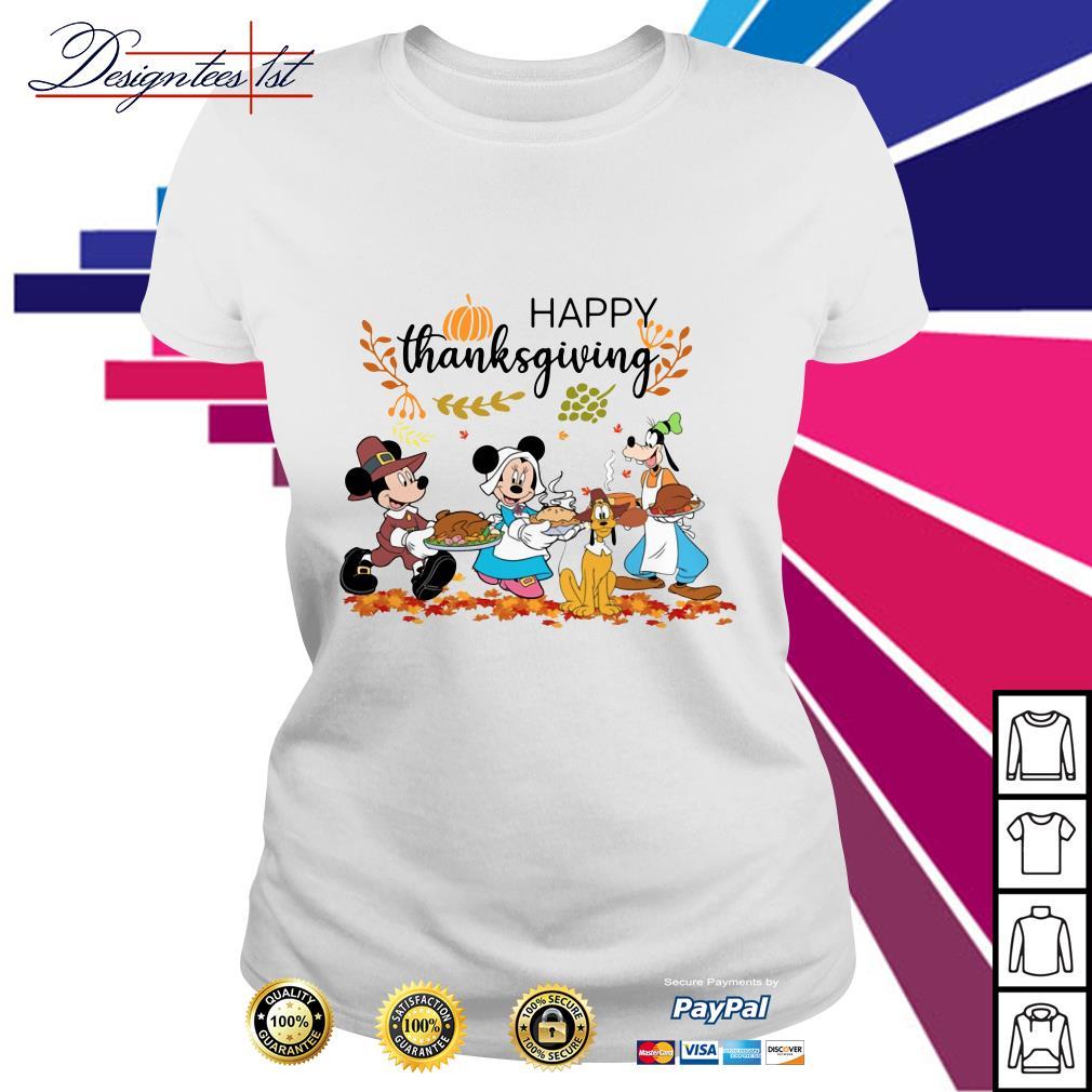 Disney happy thanksgiving Ladies Tee