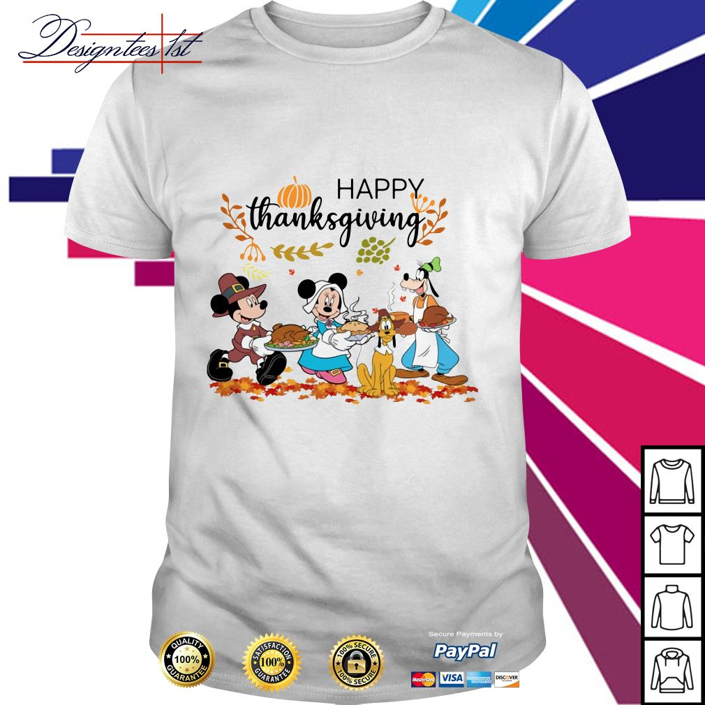 Disney happy thanksgiving shirt