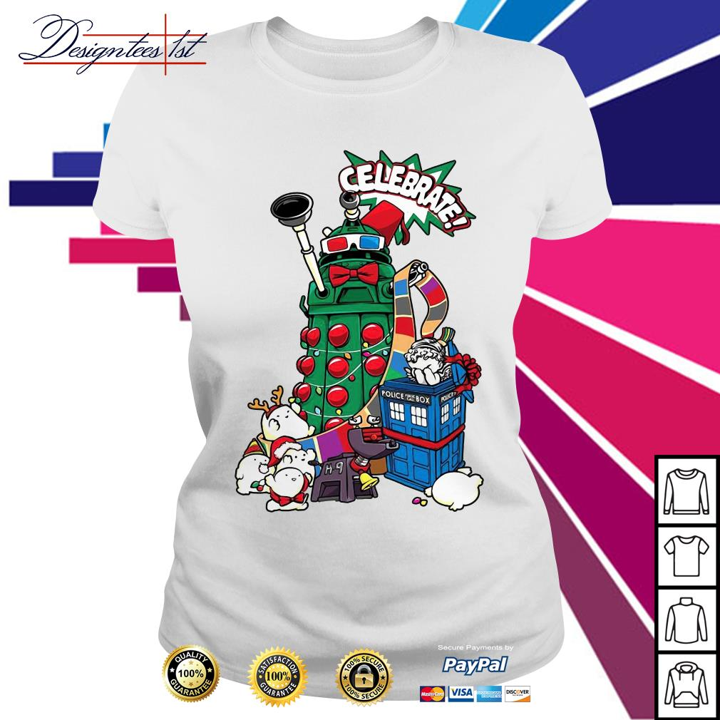 Doctor Who celebrates Christmas Ladies Tee