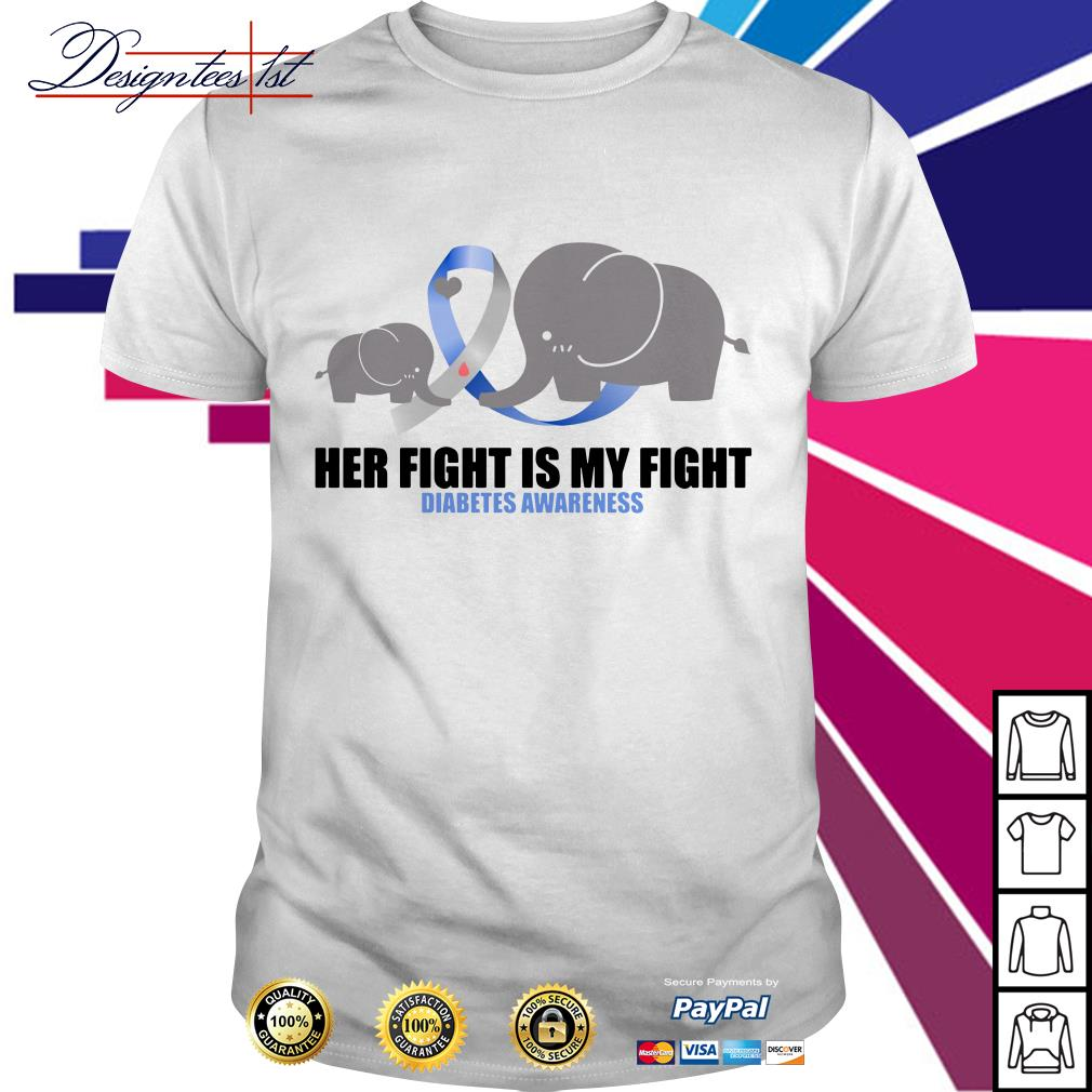 Elephants her fight is my fight diabetes awareness shirt