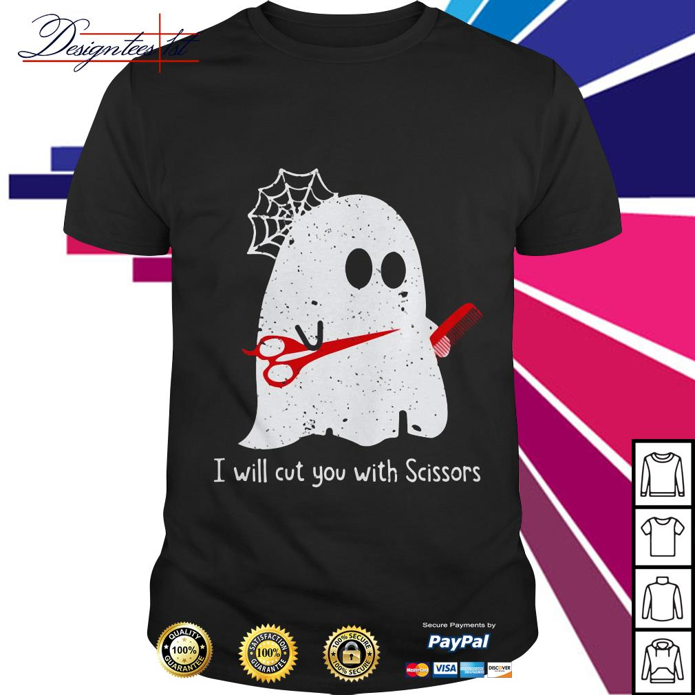 Ghost I will cut you with Scissor shirt