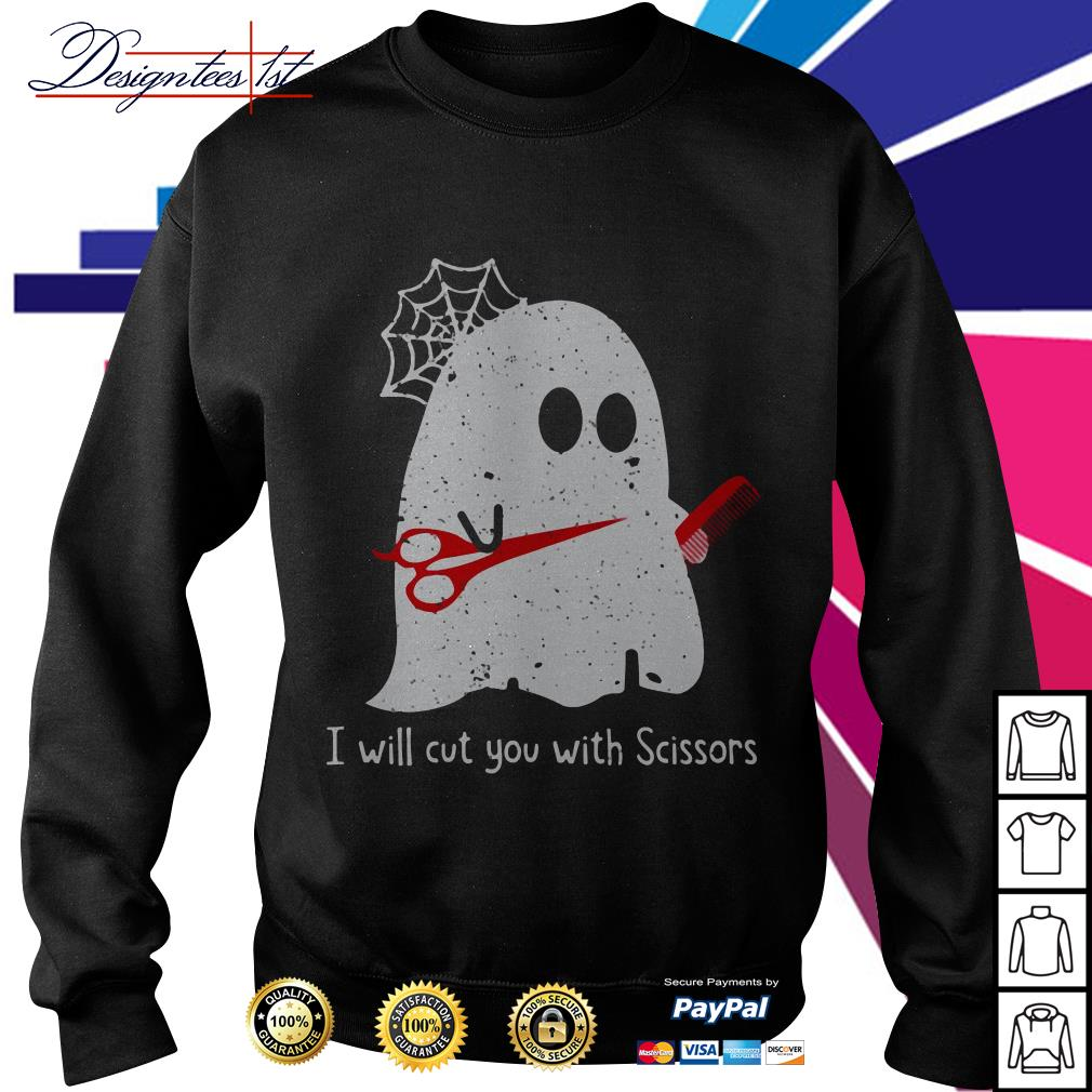 Ghost I will cut you with Scissor Sweater