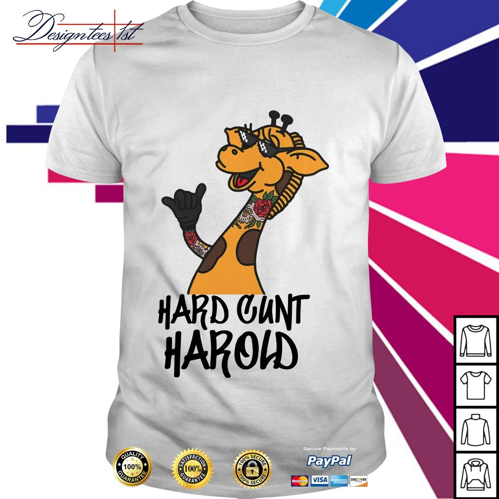 Giraffe hard cunt harold shirt