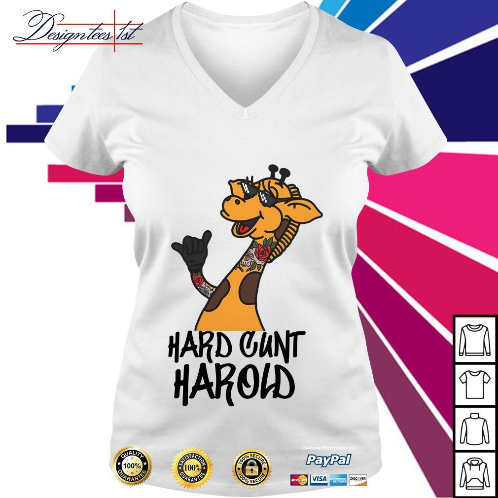 Giraffe hard cunt harold V-neck T-shirt