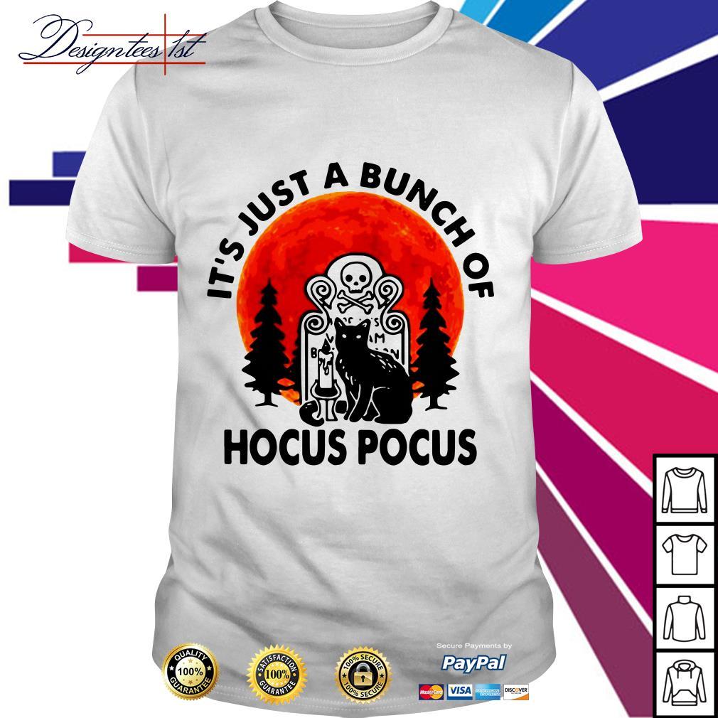 Halloween Black cat it's just a bunch of Hocus Pocus shirt