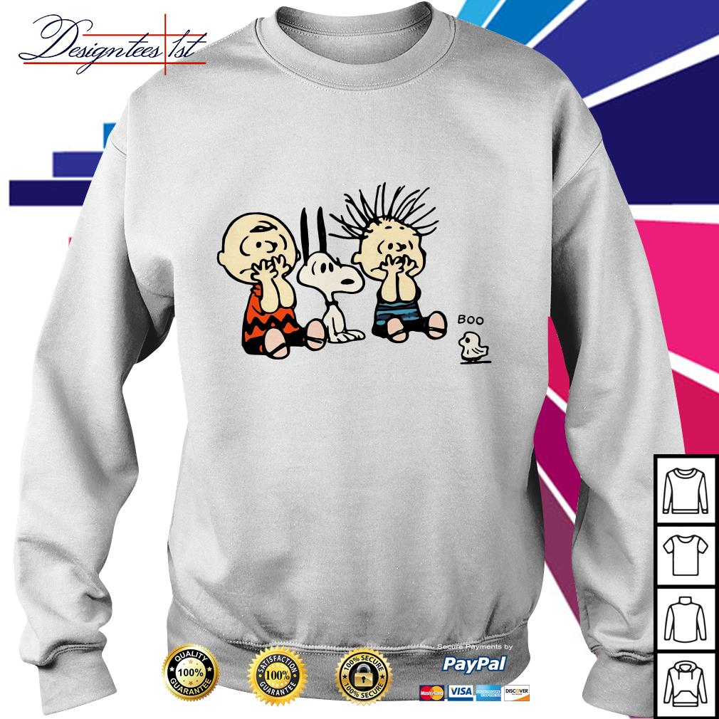 Halloween Boo Snoopy Charlie Brown and Linus Van Pelt Frightened of ghost Sweater