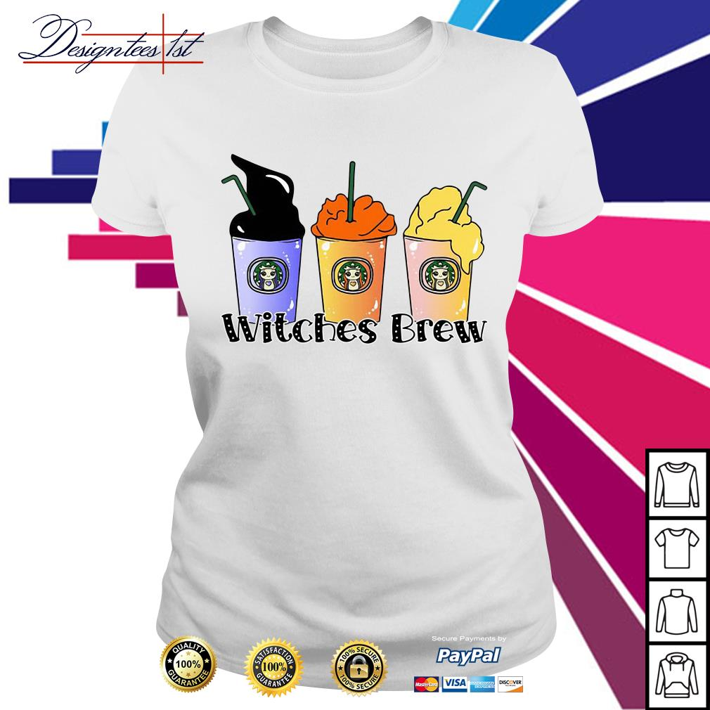 Halloween Hocus Pocus Starbuck Witches Brew Ladies Tee