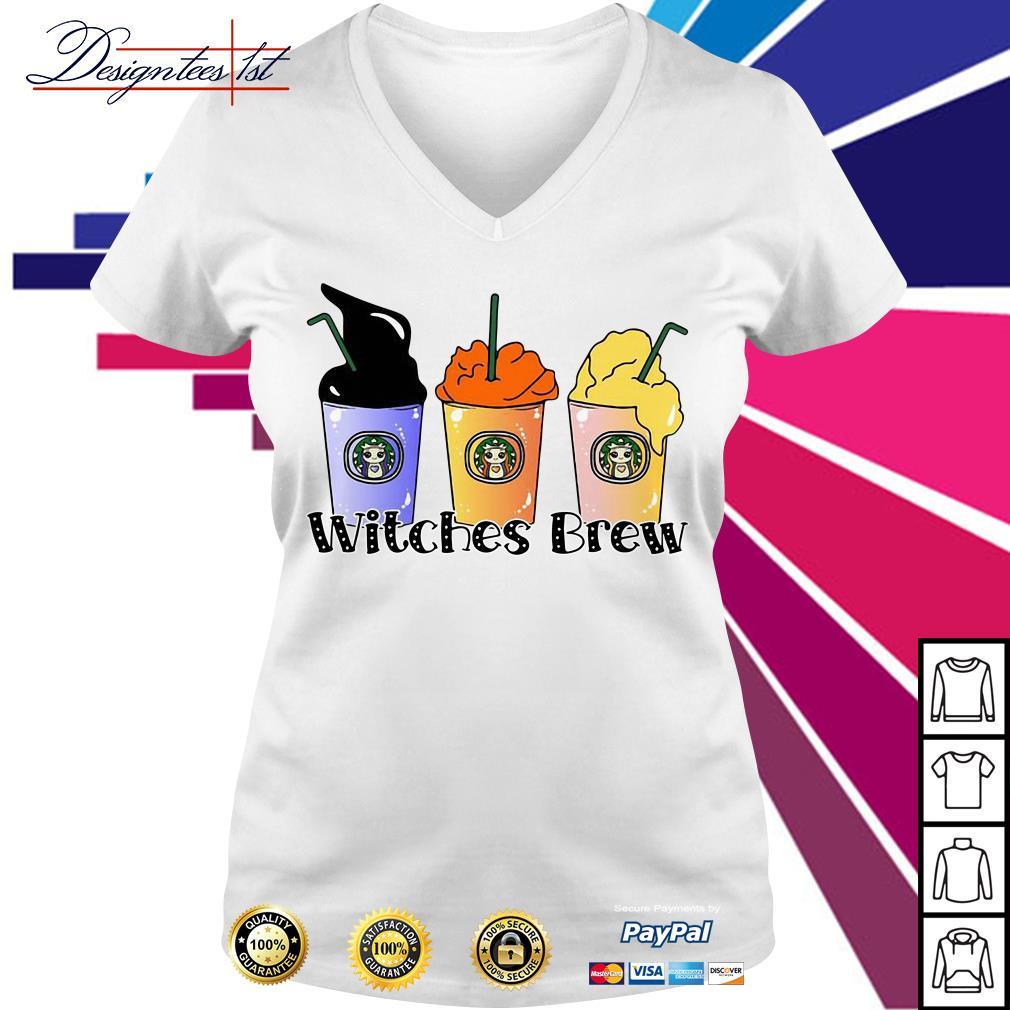 Halloween Hocus Pocus Starbuck Witches Brew V-neck T-shirt