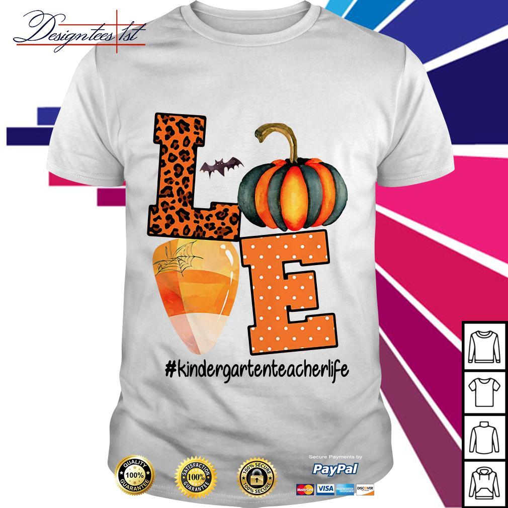 Halloween love kindergartenteacherlife shirt