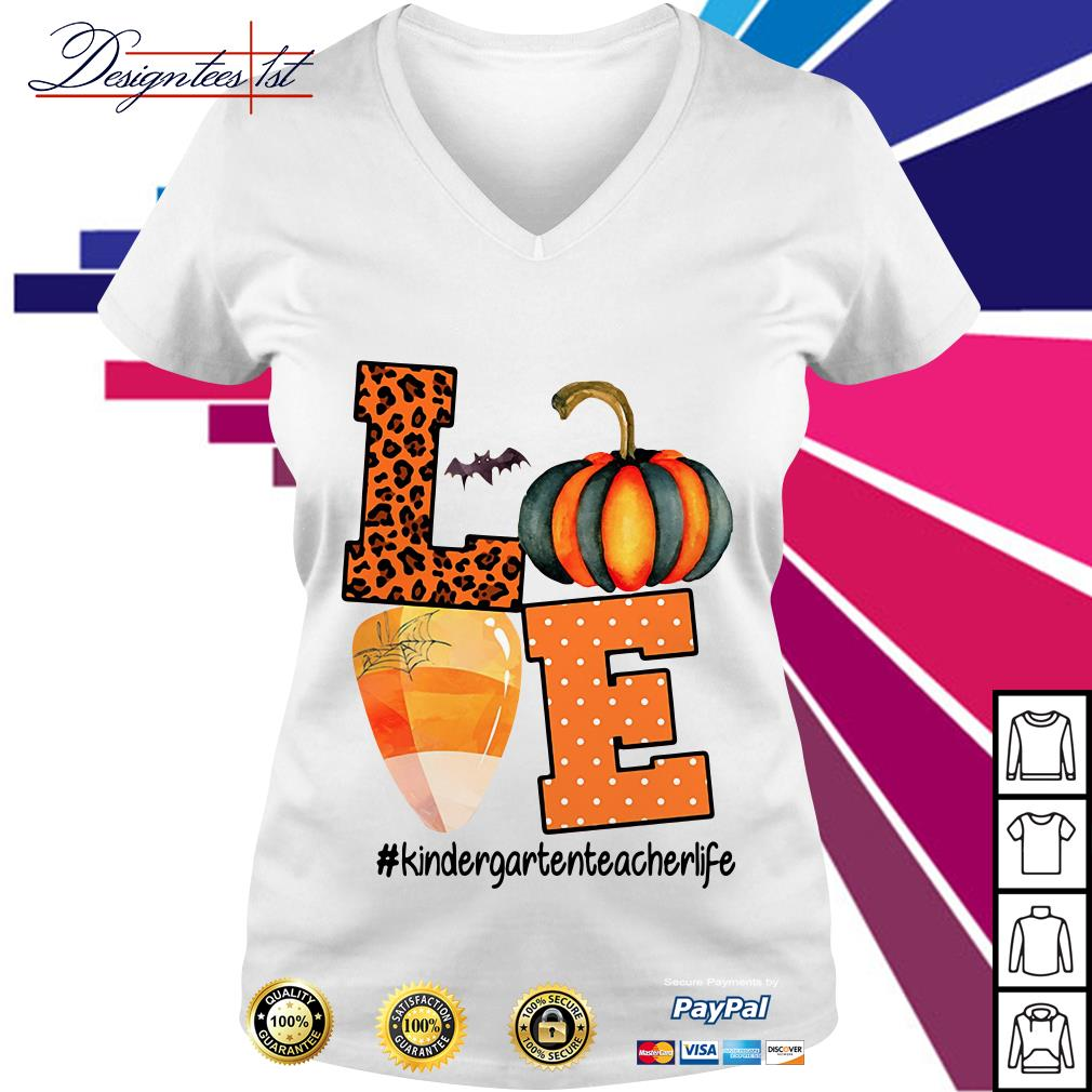 Halloween love kindergartenteacherlife V-neck T-shirt