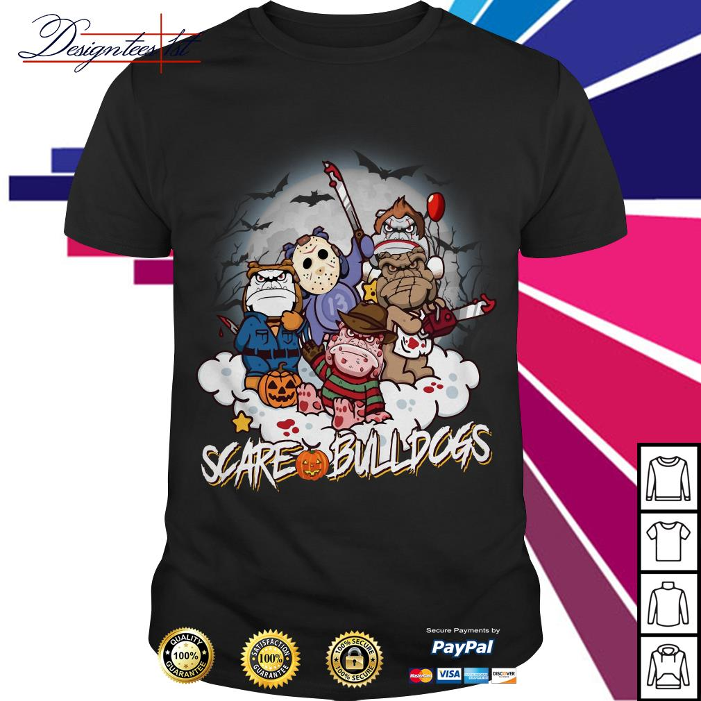 Halloween Scare Bulldogs Horror characters shirt