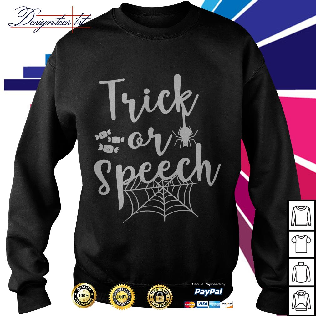 Halloween trick or speech Sweater
