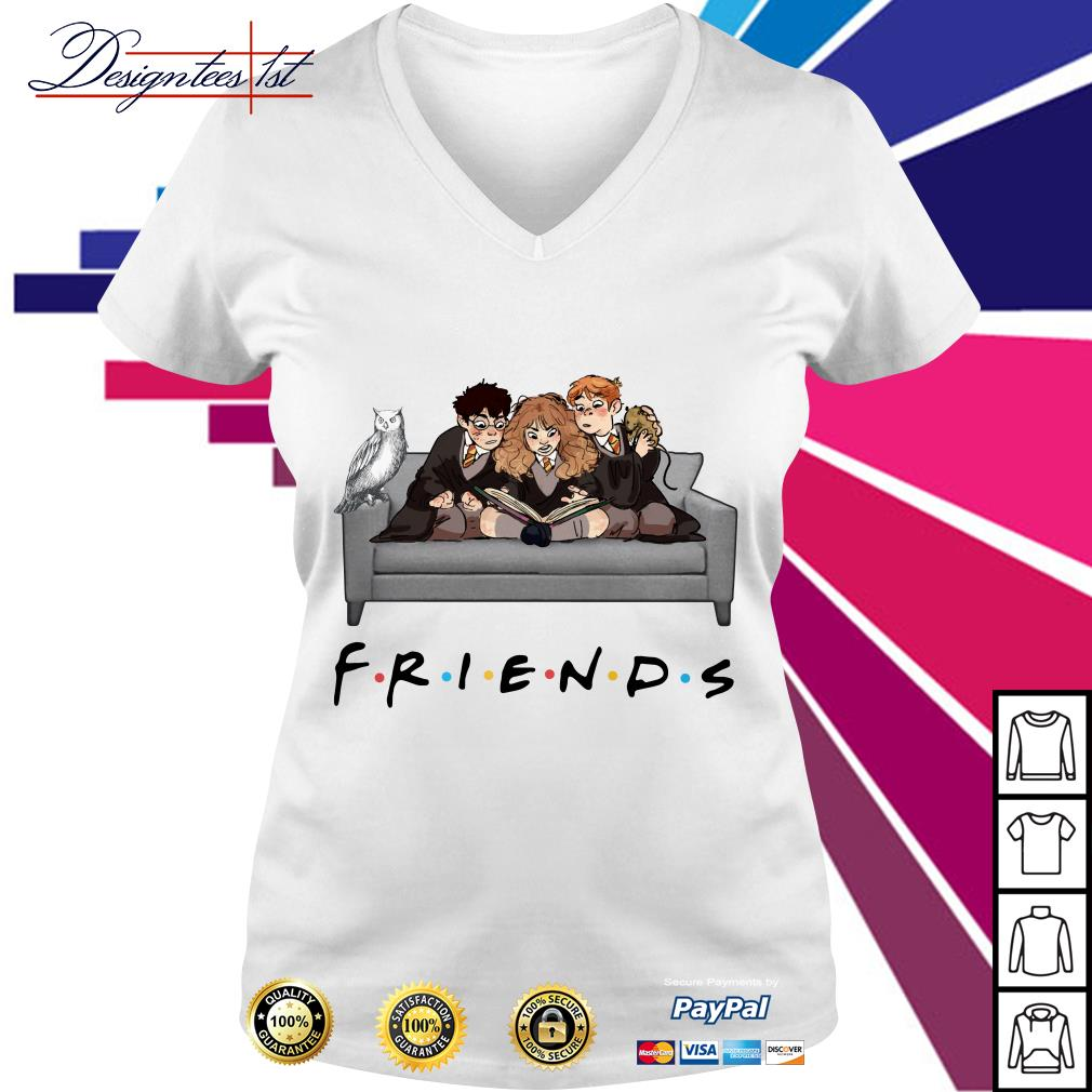Harry Potter character Friends TV Show V-neck T-shirt