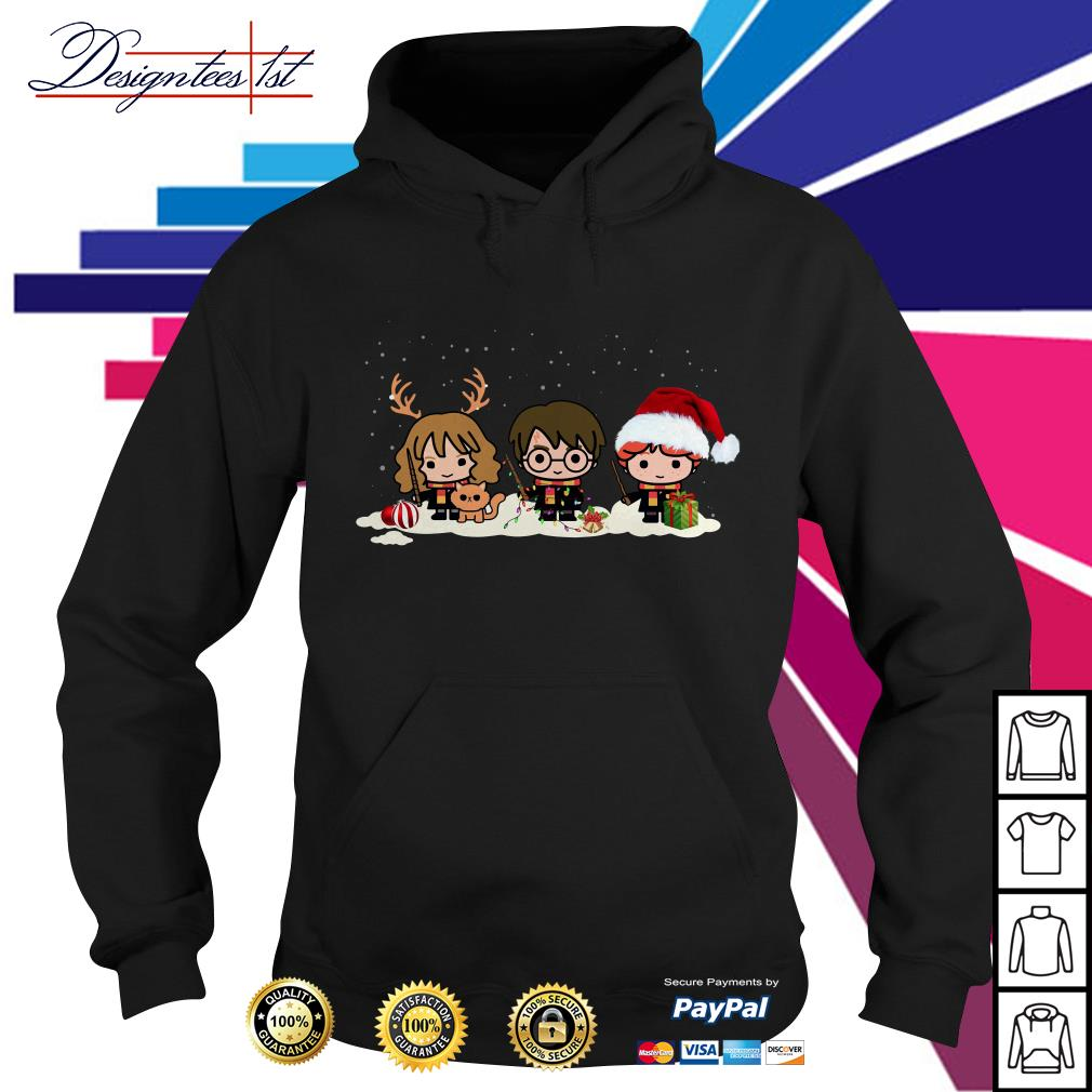 Harry Potter chibi characters Christmas Hoodie
