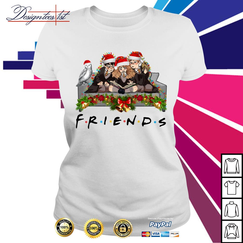 Harry Potter Hermione and Ron Weasley Christmas friends TV show Ladies Tee