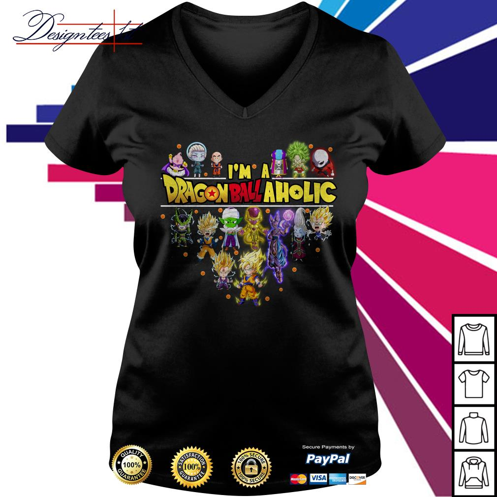 I'm a Dragon Ball aholic V-neck T-shirt