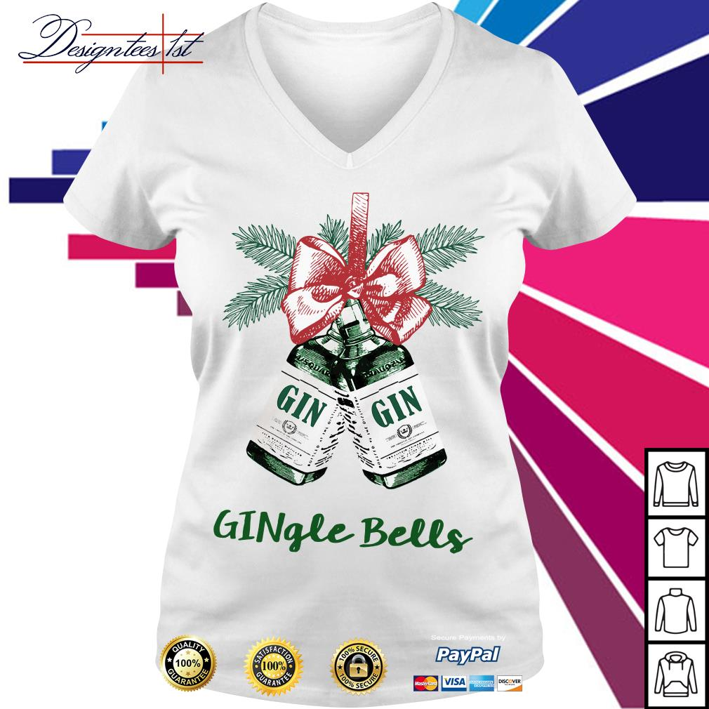 Jingle bells Gingle bells V-neck T-shirt