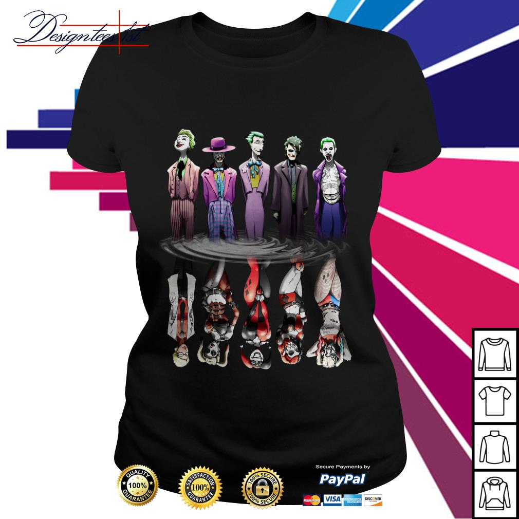 Joker And Harley Quinn Reflection Mirror Water Ladies Tee