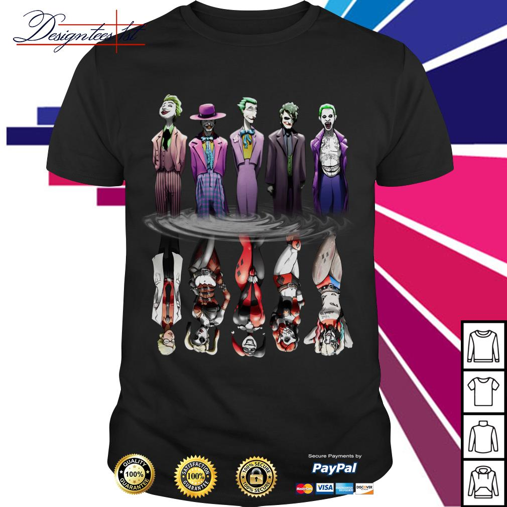 Joker And Harley Quinn Reflection Mirror Water shirt