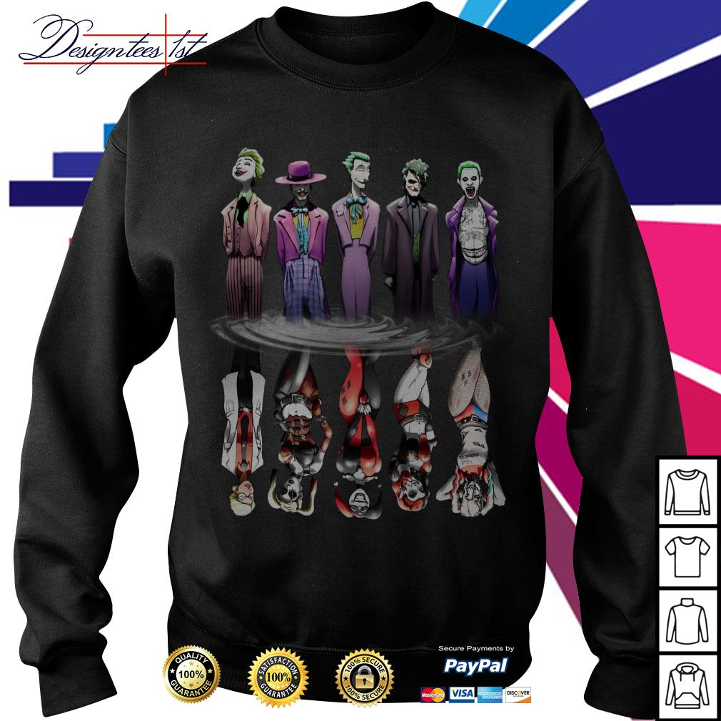 Joker And Harley Quinn Reflection Mirror Water Sweater