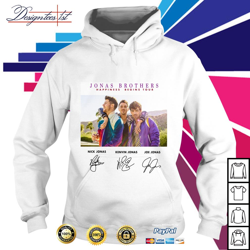 Jonas Brothers happiness begins tour signature Hoodie