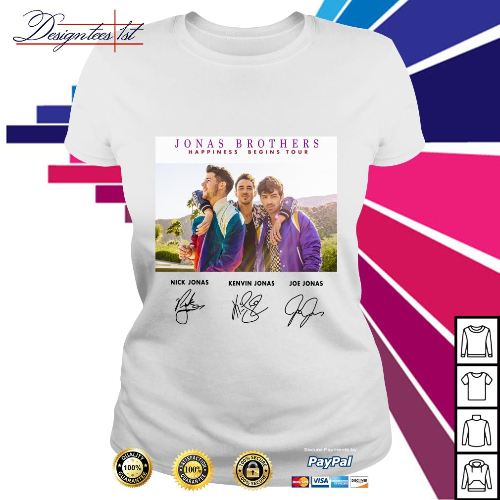 Jonas Brothers happiness begins tour signature Ladies Tee