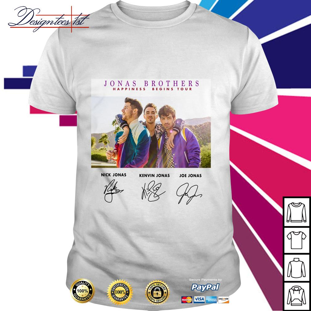 Jonas Brothers happiness begins tour signature shirt