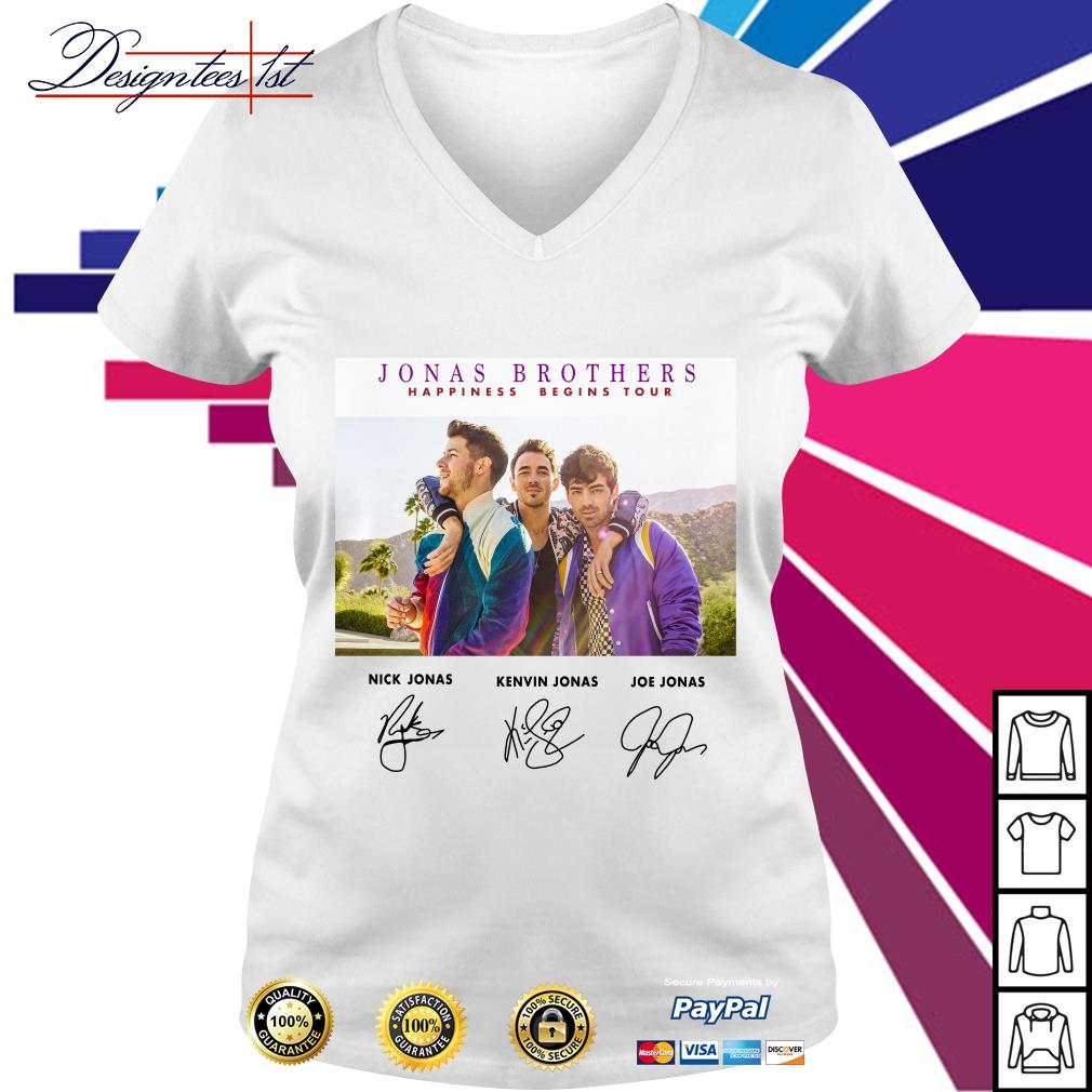Jonas Brothers happiness begins tour signature V-neck T-shirt